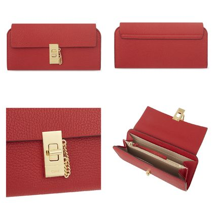 Chloe 長財布 ☆Chloe Drew lamb leather wallet☆(クロエ 羊皮 長財布)☆(6)