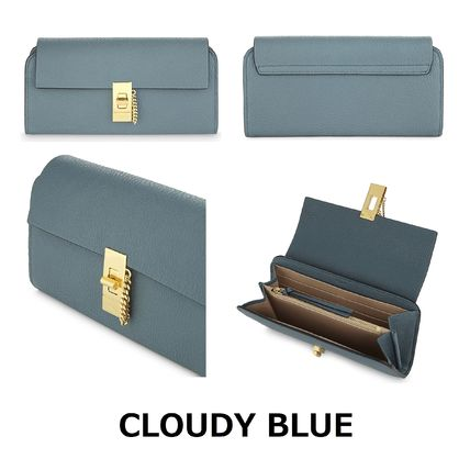 Chloe 長財布 ☆Chloe Drew lamb leather wallet☆(クロエ 羊皮 長財布)☆(8)