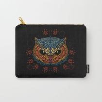 即納★【Society6】 Owl Face ポーチ