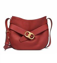 【 Tory Burch 】 GEMINI LINK SHOULDER BAG ライトレッドウッド