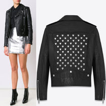 16-17AW WSL986 HEART STUDDED MOTORCYCLE JACKET