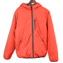 Supreme 16AW Reversible Hooded Puffy Jacket 赤 x シルバー