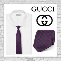 16-17Gucciグッチ[Embroidered Silk-Faille Tie]ネクタイ