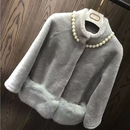 Real fur coat after party wedding 4-color