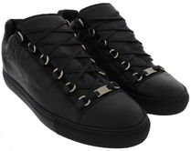【関税負担】 BALENCIAGA 17SS LEATHER SNEAKERS BLACK