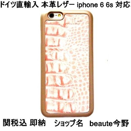 mabba iPhone・スマホケース mabba Der Rauber Coral iPhone 6 6s Case Kroko gold 即納