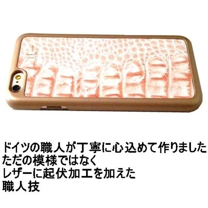 mabba iPhone・スマホケース mabba Der Rauber Coral iPhone 6 6s Case Kroko gold 即納(2)