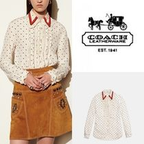 セール coach mini bunny print shirt56451