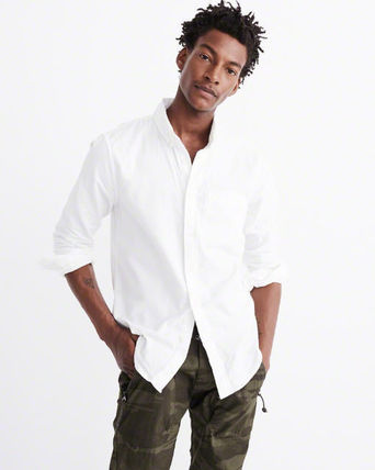 Abercrombie & Fitch シャツ 国内発送★アバクロ オックスフォード シャツ Abercrombie&Fitch