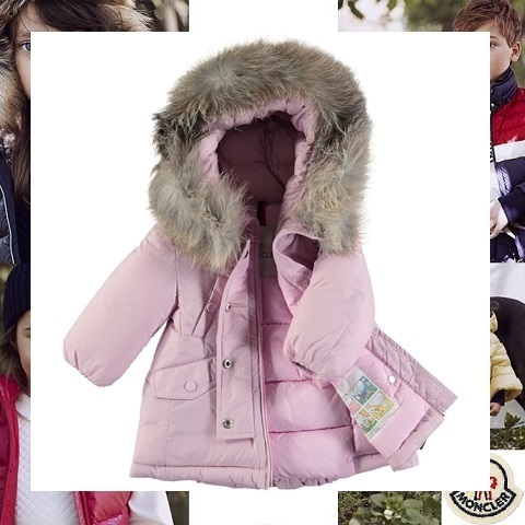 【MONCLER】 モンクレール Arrious ピンクファーダウン 3-12ヵ月