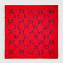 【Gucci☆送関込】GucciGhost スカーフ/Red&Blue