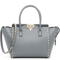 16-17AW V600 ROCKSTUD DOUBLE HANDLE SMALL TOTE