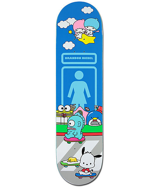 Girl x hello sanrio Biebel Skateboard ガールスケートボード