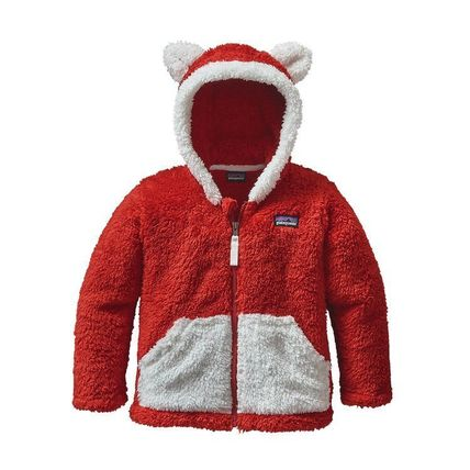 Patagonia アウター Patagonia Baby Furry Friends Hoody Ramble Red