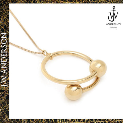 J.W.ANDERSON small double ball pendant necklace
