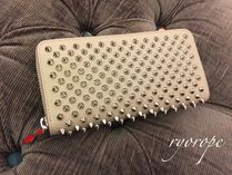 ★NEW★【ルブタン】Panettone Calf Spikes (Cashmere/Silver)