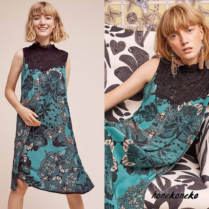 Anthropologie Butterfly lace dress
