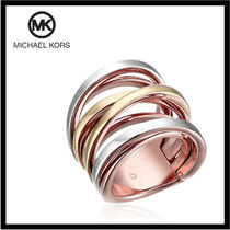 送料&関税込♪ Michael Kors ☆ Tri-Tone Criss Cross Ring