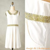 Anthropologie(アンソロポロジー) エプロン 国内発送☆anthropologie★Clemence Collared Apron