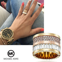 送料&関税込♪ Michael Kors☆ Pave Two-Tone Barrel Ring