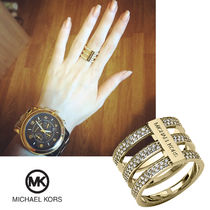 送料&関税込♪ Michael Kors☆Crystal Pave Motifs Bar Ring