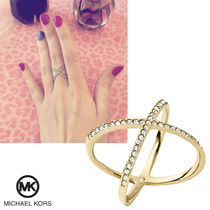 送料&関税込♪ Michael Kors☆ Brilliance Circle X Ring