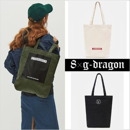 8SECONDS×GD campus print bags all