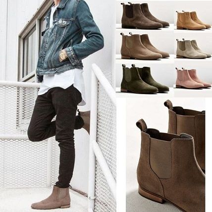 -Urban Outfitters-side goat suede boots /