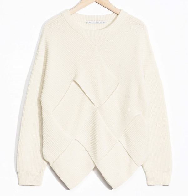 """& Other Stories""Braided Wool-Blend Sweater OffWhite"