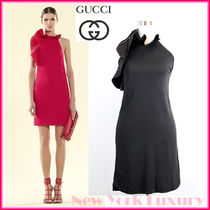 GUCCI★グッチ★素敵! Silk Flounce Halter Dress, Black