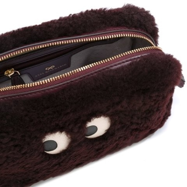 関税込【AnyaHindmarch】 GHOST MOUTON Eyes メイクポーチ 2色♪