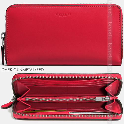 COACH★ACCORDION ZIP WALLET IN GLOVETANNED LEATHER 54300