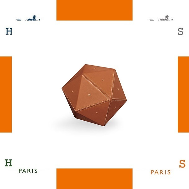HERMES エルメス Equilibre d'Hermesペーパーウェイト文鎮 fawn