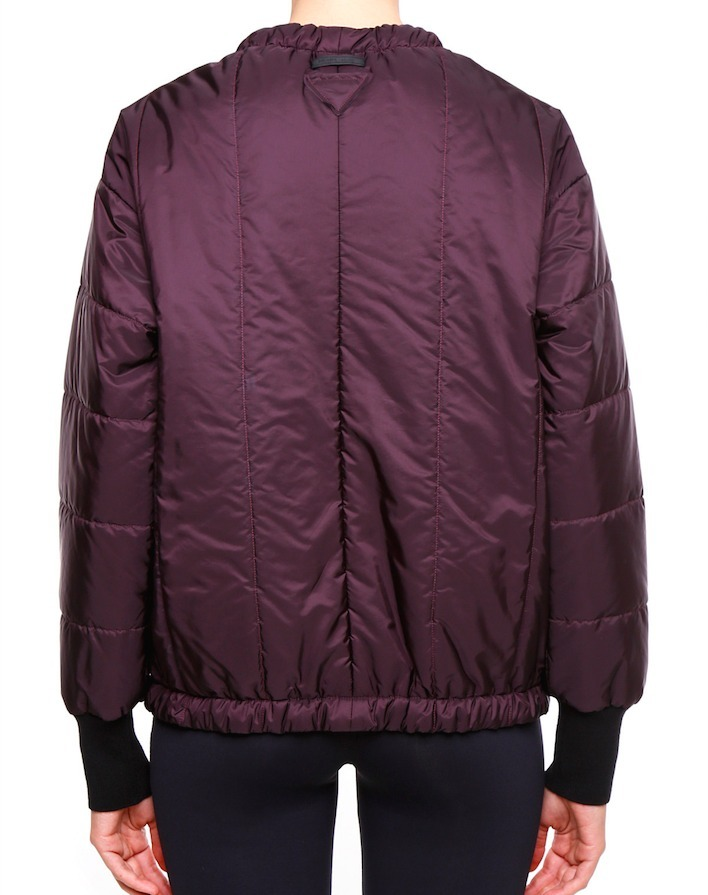 PR143 NYLON DOWN JACKET WITH BOW