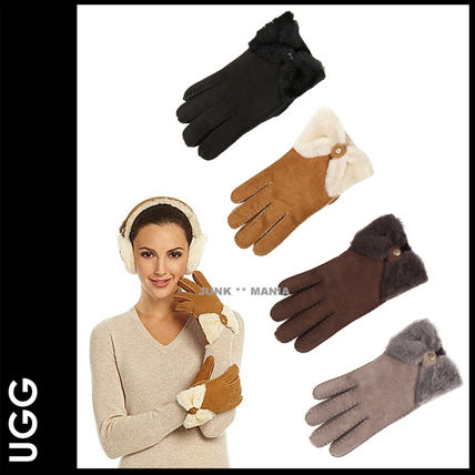 3-7 days arrival / UGG gloves CLASSIC BOW SHORTY