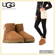 セレブ愛用者多数☆UGG☆Brown mini Bailey Button boots