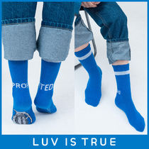 その他 LOV  IS  TRUE ★UNISEX AP PROHIBITED ソックス  ブルー