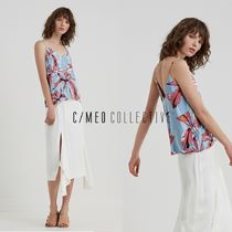 CAMEO COLLECTIVE(カメオコレクティブ) キャミソール CAMEO COLLECTIVEお洒落な柄のHOLD ON キャミトップ