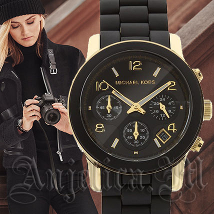 Michael Kors アナログ腕時計 ★安心ヤマト便★Michael Kors Black Polyurethane Watch MK5191(2)