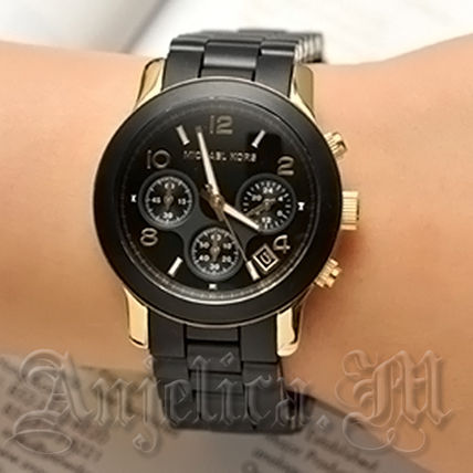 Michael Kors アナログ腕時計 ★安心ヤマト便★Michael Kors Black Polyurethane Watch MK5191(4)