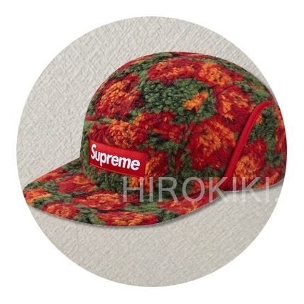 16AW★Supreme Roses Sherpa Fleece Earflap Camp Cap Red 赤