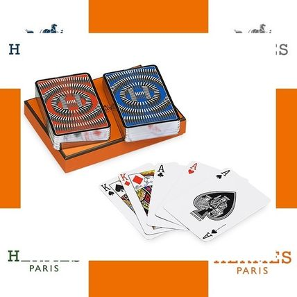 HERMES L'Effet Domino silver edge bridge cards