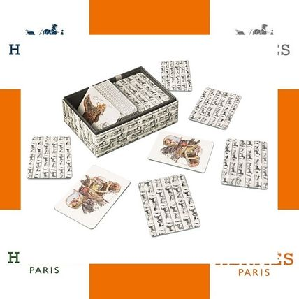 HERMES Emile La Collection playing card white