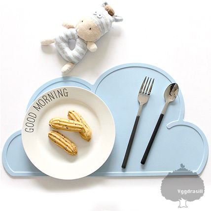 YGG cloud dine placemats cloud Silicon blue new