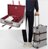 "GLOBE TROTTER(グローブトロッター) バッグ・スーツケース 新作/一押21"" Leather-Trimmed Trolley Case国内送料・関税込!"
