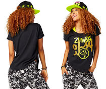 新作♪ZumbaズンバZumba Joy Tulip Top-Back to Black
