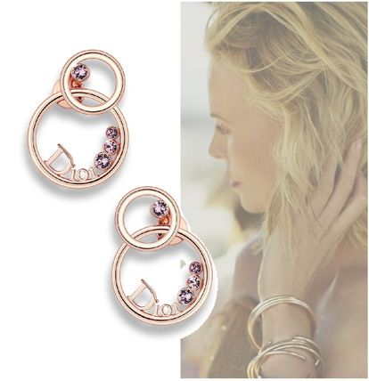 Christian Dior SURROUNDIOR pink gold earrings