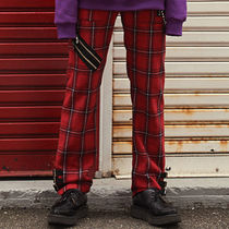 ANOTHERYOUTH(アナザーユース) パンツ ☆ANOTHERYOUTH(アナザーユース)☆CHECK STRAP PANTS