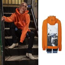 ANOTHERYOUTH(アナザーユース) パーカー ☆ANOTHERYOUTH(アナザーユース)☆BACK ZIPPER HOOD - ORANGE