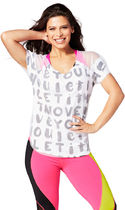 ZUMBA(ズンバ) トップス 新作♪ZumbaズンバLet It Move You Mesh Tee-Wear It Out White